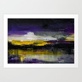 Purple Abstract Landscape Art Print