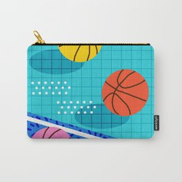 All Day - basketball sports memphis retro throwback neon trendy colors athletic art design Carry-All Pouch