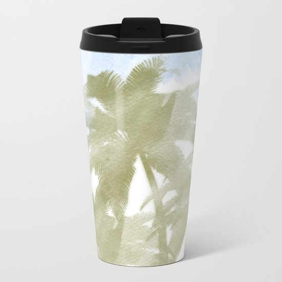 Palms and the sky Metal Travel Mug