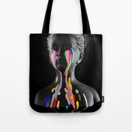 The Girl With Stars In Her Eyes (On Black) Tote Bag