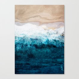Watercolour Summer beach III Canvas Print