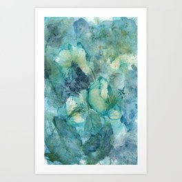 Wild Peace Lily Art Print