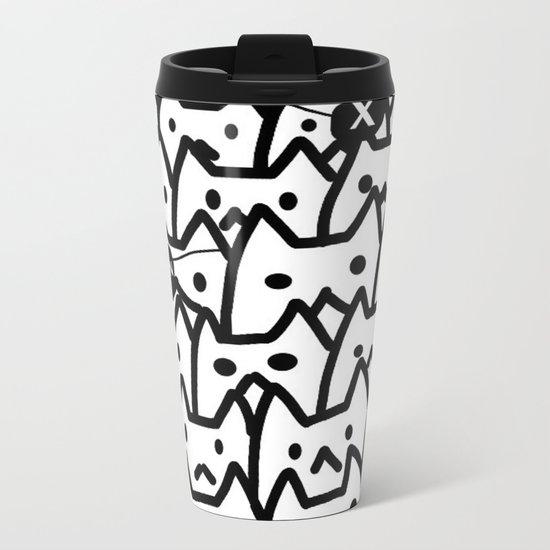 cats-349 Metal Travel Mug