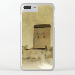 Sargans Castle Digital Oil Painting 1 Clear iPhone Case