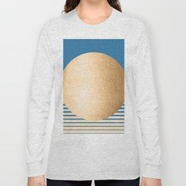 Sun Gradient - Orange Sherbet Shimmer on Saltwater Taffy Teal Long Sleeve T-shirt