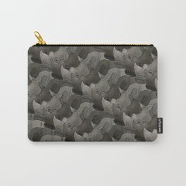 Rhino Heads Carry-All Pouch