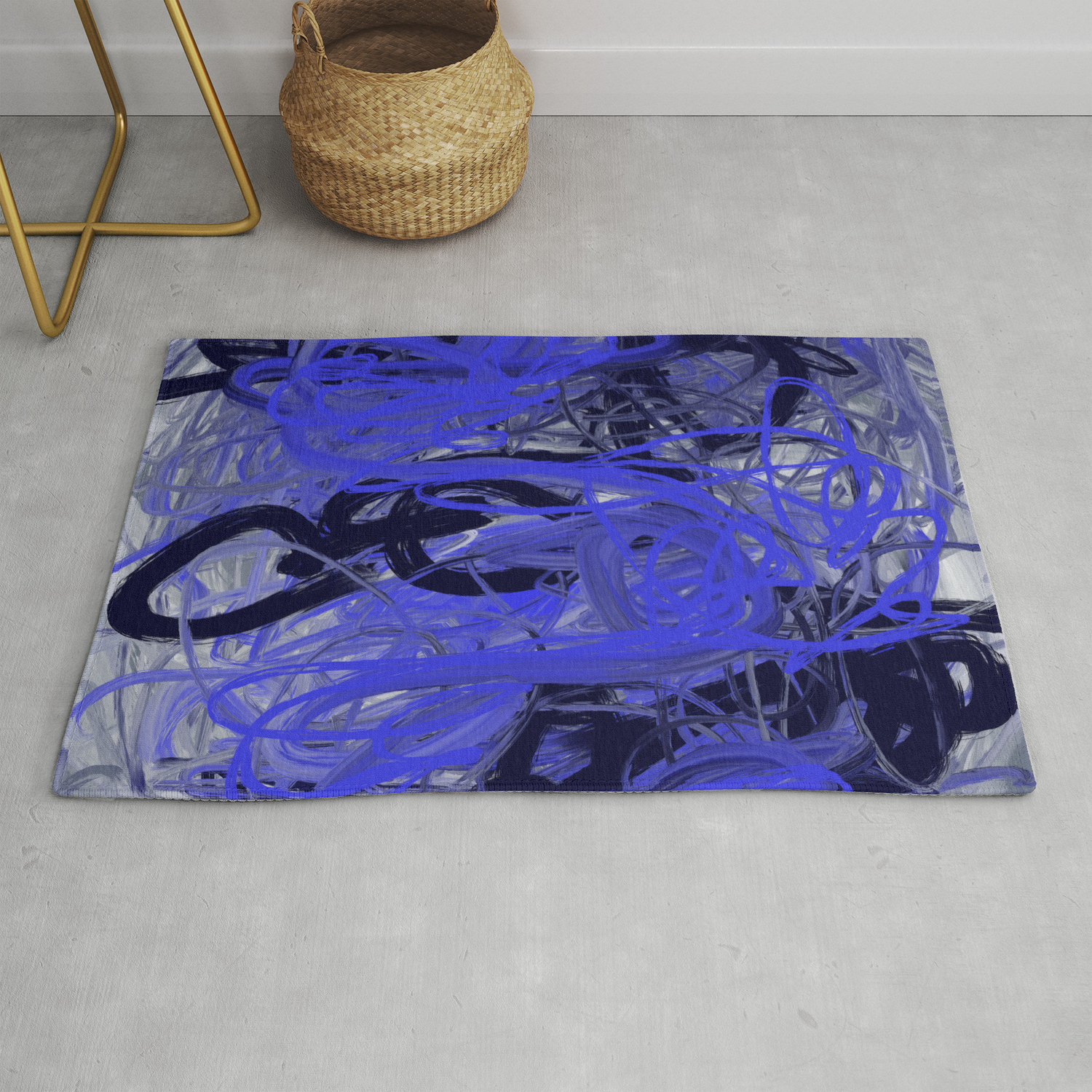 Picture of: Blue Gray Abstract Rug By Michellemaroon Society6