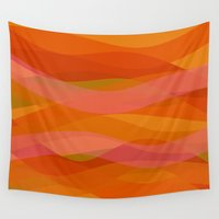 discount Wall Tapestries featuring Warm breeze by Roxana Jordan