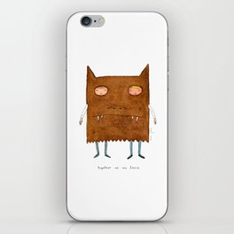 together we are fierce iPhone Skin