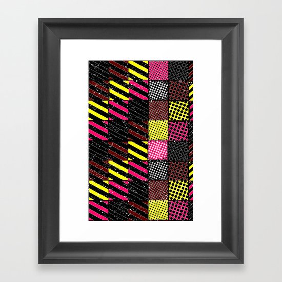 Crazier Pattern Framed Art Print