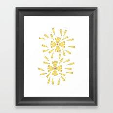 Golden Marguerite Framed Art Print