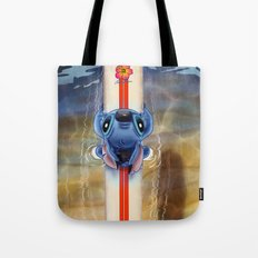 Waiting for the perfect wave...Stitch..^^ Tote Bag