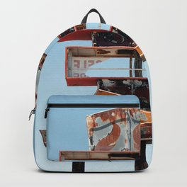 Vintage Neon Cowboy Boot Sign - Tucson Arizona Backpack