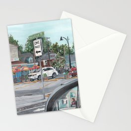 The Scotty Dog Beverly Massachusetts One Way Street Scene Stationery Cards