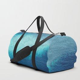 Blue Ocean White Sand Reefs Tropical Maldives Abstract Duffle Bag