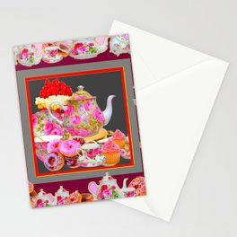 AFTERNOON TEA PARTY  & PASTRY  DESSERTS Stationery Cards