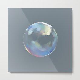 Bubble of iridescent rainbow Metal Print