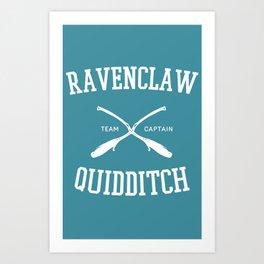 Hogwarts Quidditch Team: Ravenclaw Art Print