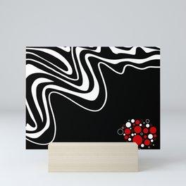 Modern Art Red Black White Mini Art Print