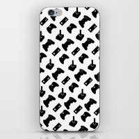 gamer iPhone & iPod Skins featuring Gamer by C. Wie Design