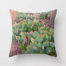 Prickly Pear Cactus Arizona Throw Pillow