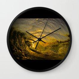 Sunset Barrel 2 ~ Newport Beach Wall Clock