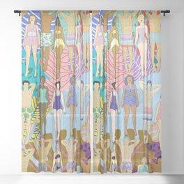 Sun Tan City Sheer Curtain