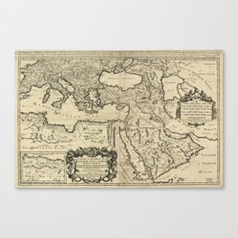 Map of the Ottoman Empire (1680) Canvas Print