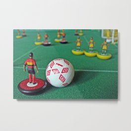 Table Football - Subbuteo : Angola vs. Zimbabwe : Little Plastic Men : World Cup Metal Print