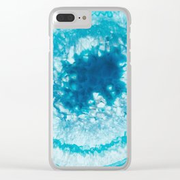 Crackling ice Agate Clear iPhone Case