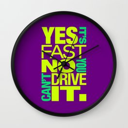 Yes it's fast No you can't drive it v7 HQvector Wall Clock
