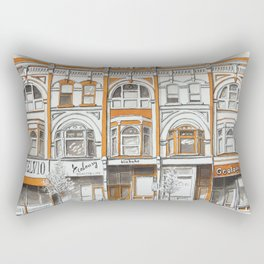 Queen Street Arcade Toronto Rectangular Pillow