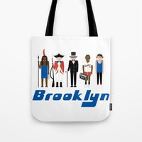 brooklyn Tote Bags featuring Brooklyn  by harlembrooklyn