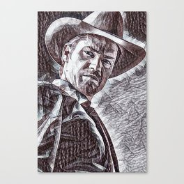 Justified - Timothy Olyphant Canvas Print