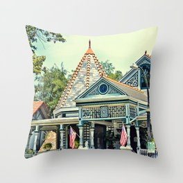 American Victorian House Throw Pillow