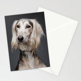 Saluki Faruk - Dog portrait - Skinny Dogs collection Stationery Cards
