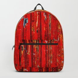 The Red Metal Wall Backpack