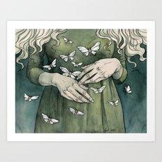 Cold hands Art Print