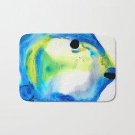 Tropical Fish 3 - Abstract Art By Sharon Cummings Bath Mat