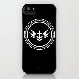 Immovable & Indestructible (White Design) iPhone Case