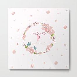 Letter P Metal Print