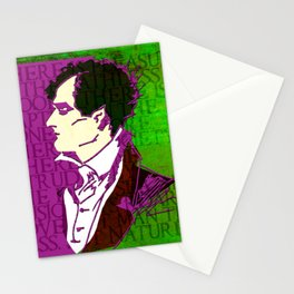 LORD BYRON, POET, HELLRAISER AND MADMAN Stationery Cards
