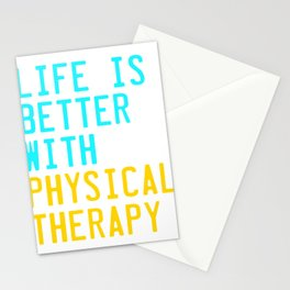 Independence With Physical Therapy. Get up, get better, get here!  Taking care of your body. Stationery Cards