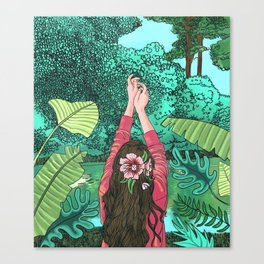 Comic Book Jungle Canvas Print