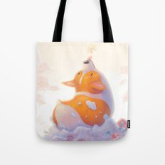 Corgi and Snowflakes Tote Bag