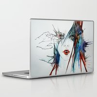 muscle Laptop & iPad Skins featuring Muscle Tissue  by Juli Jah