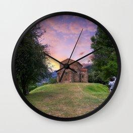 Church of Santa Cristina de Lena Oviedo, Asturias Spain. Wall Clock