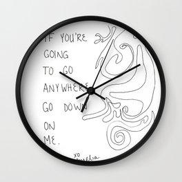 Go Down Wall Clock