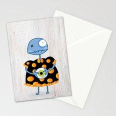 Little Lulu Unzicker with Her Favorite Pet Eye. Stationery Cards