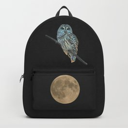 Owl, See the Moon (Barred Owl) Backpack